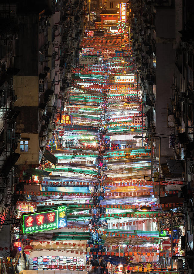 Hong Kong Photograph - Temple Street Market In Hong Kong by Matt Shiffler