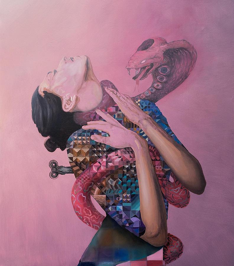 Surrealism Painting - Temptation by Obie Platon