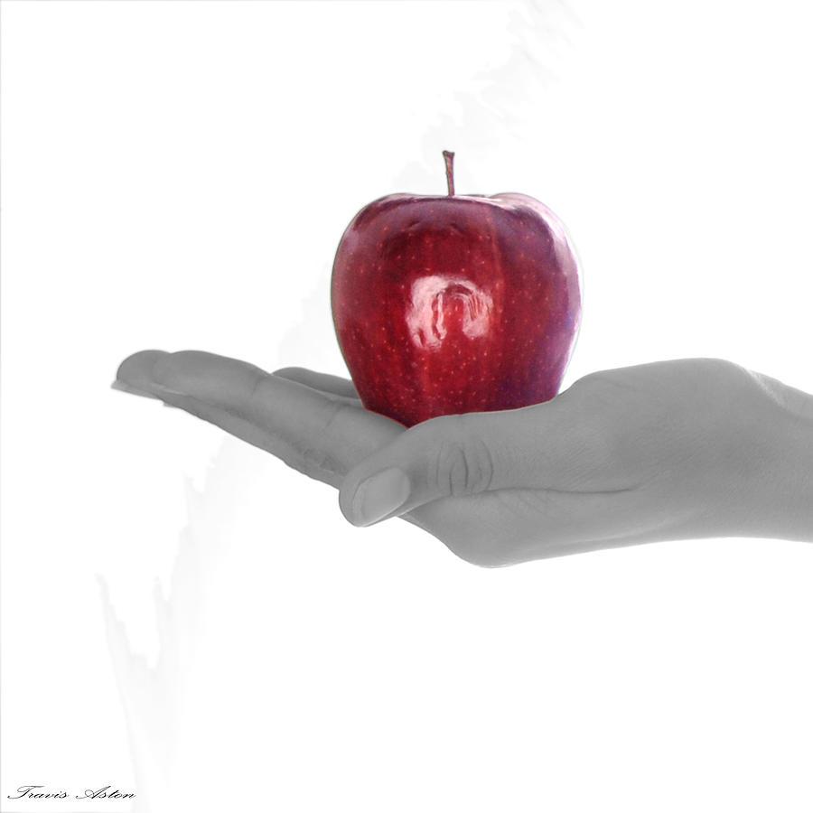 Apple Photograph - Temptation Part 1 by Travis Aston