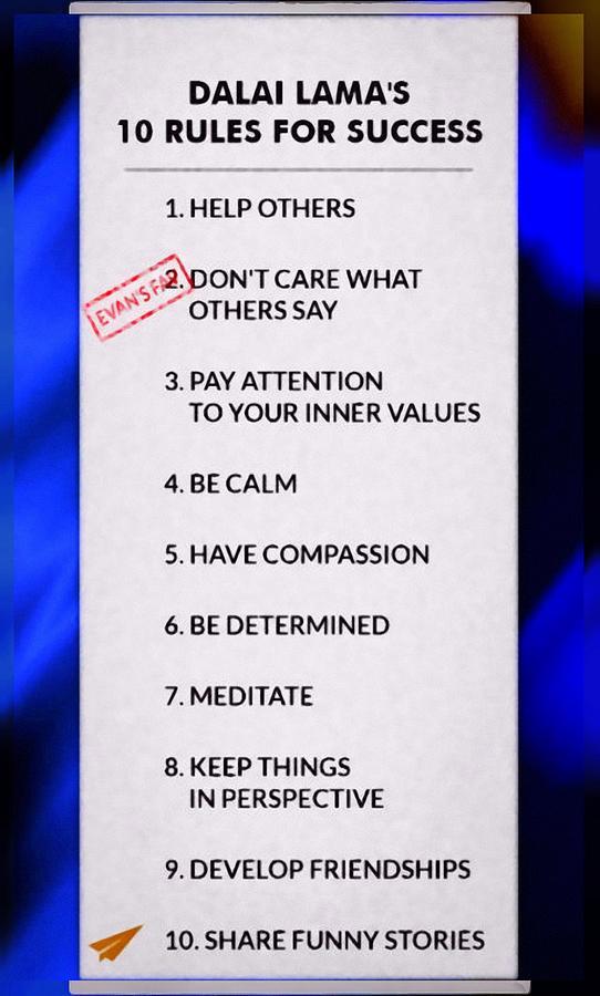 Ten Rules Of Success From The Dalai Lama