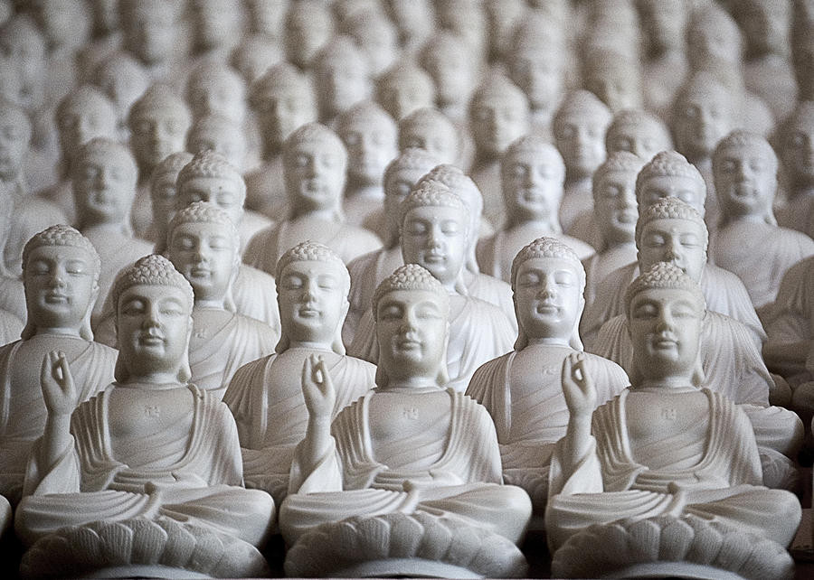 Buddha Photograph - Ten Thousand Buddhas by Patricia Bolgosano
