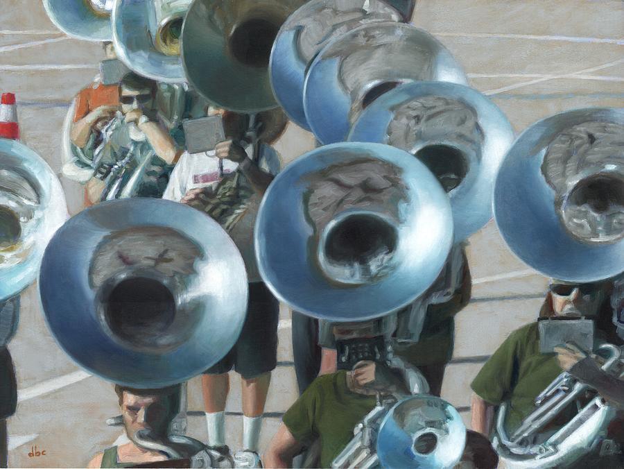 Band Painting - Ten Tubas by David Clemons