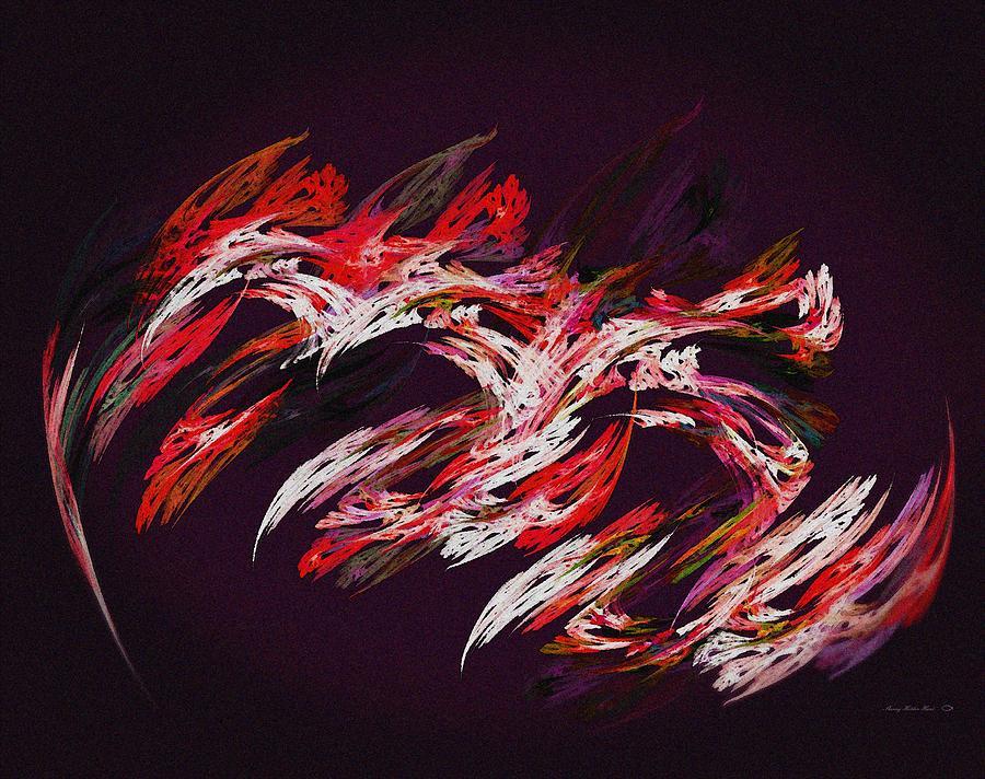 Print Digital Art - Tenacious Red by Sherry Holder Hunt