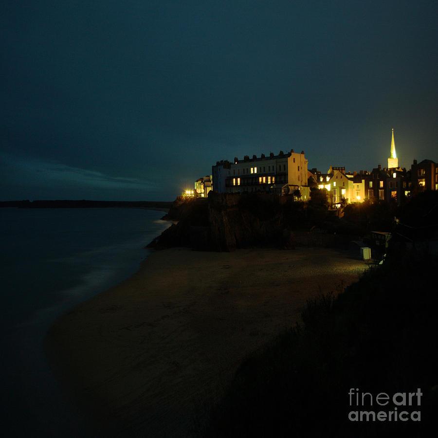 Tenby Photograph - Tenby By Night by Angel Ciesniarska