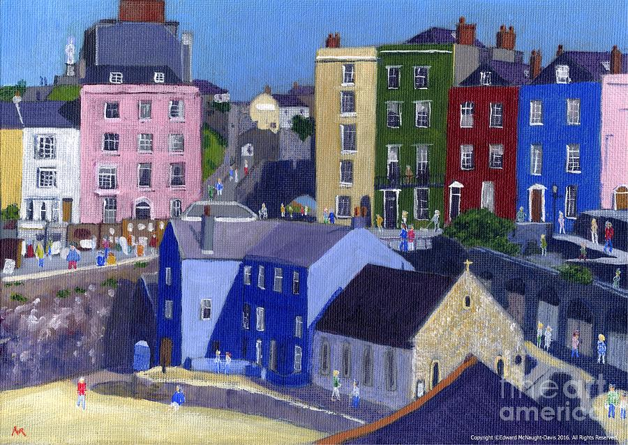 Tenby Harbour Painting by Edward McNaught-Davis