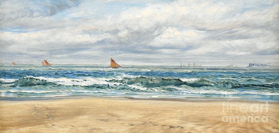Seascape Painting - Tenby by John Brett