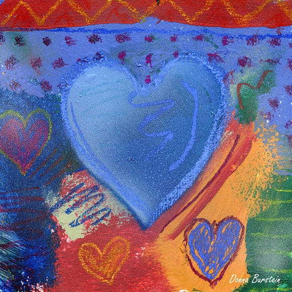 Heart Painting - Tender Heart by Donna Burstein