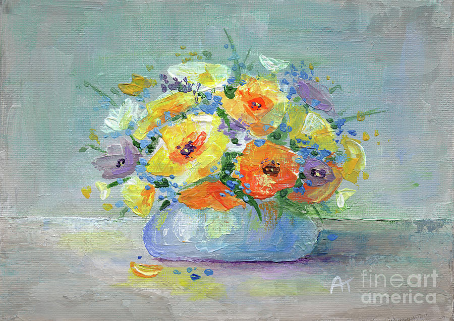 Flowers Painting - Tender Hearted by Annie Troe