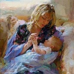 Portrait Painting - Tender Moment by Garmash