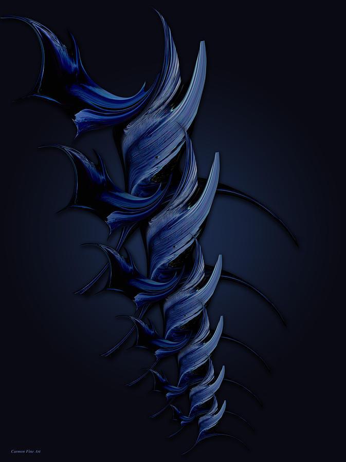 Vision Digital Art - Tender Vision of Blue Feeling by Carmen Fine Art