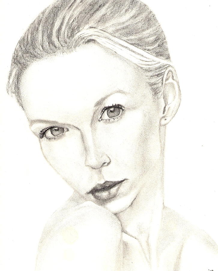 Woman Drawing - Tenderly by Shawn Sanderson