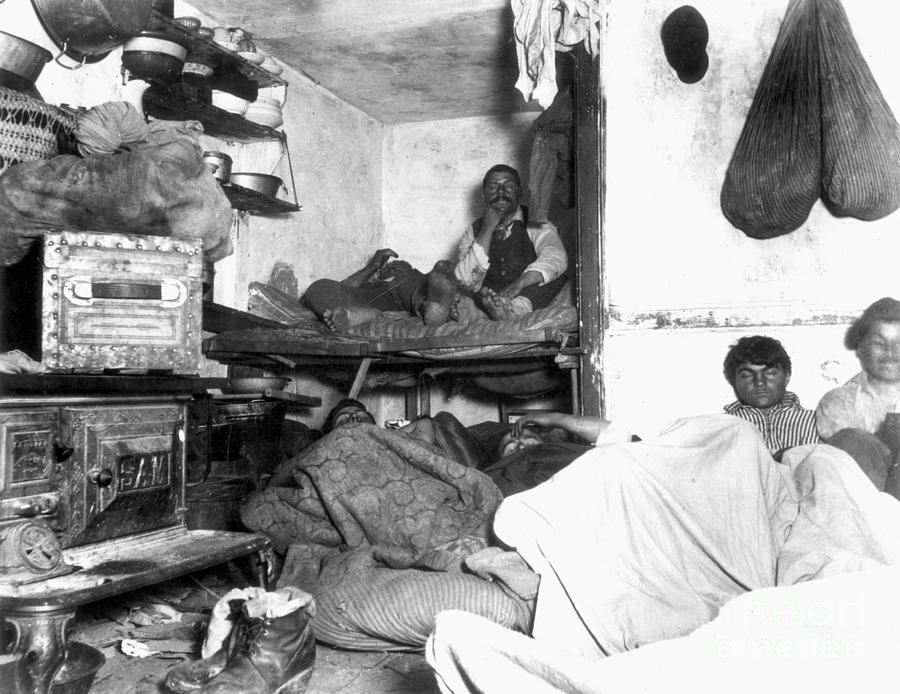 1889 Photograph - Tenement Life, Nyc, C1889 by Granger