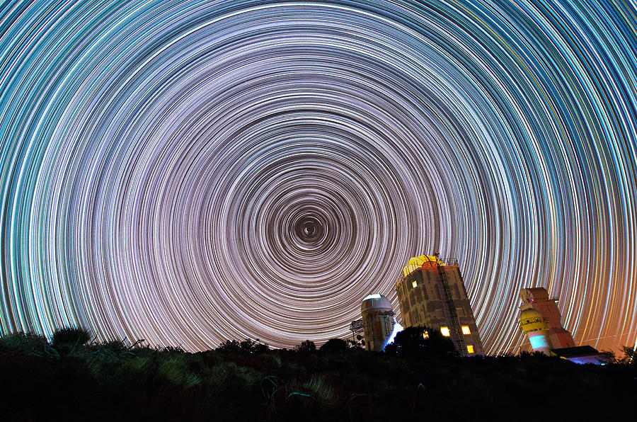 Stars Photograph - Tenerife Star Trails by Bartosz Wojczynski