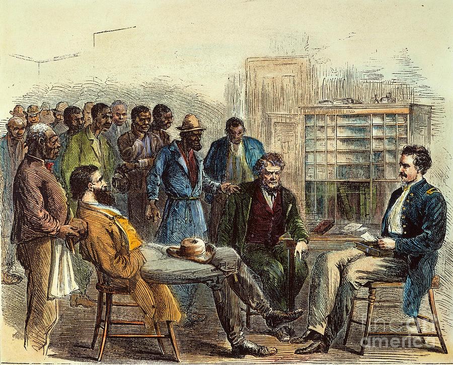 1866 Photograph - Tenn: Freedmens Bureau by Granger