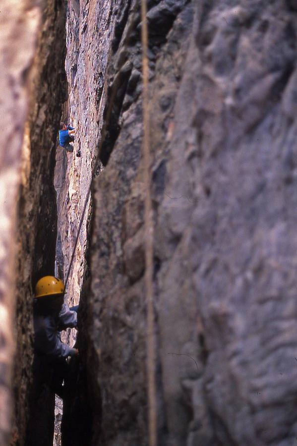 Tennessee Photograph - Tennessee Rappelling - 1 by Randy Muir