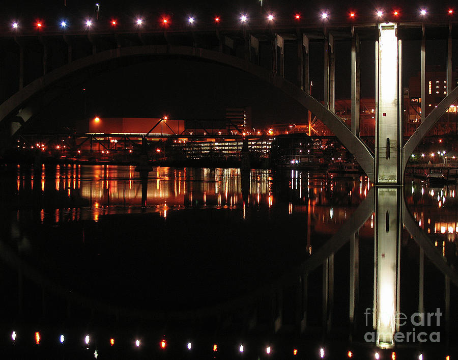 Tennessee Photograph - Tennessee River In Lights by Douglas Stucky