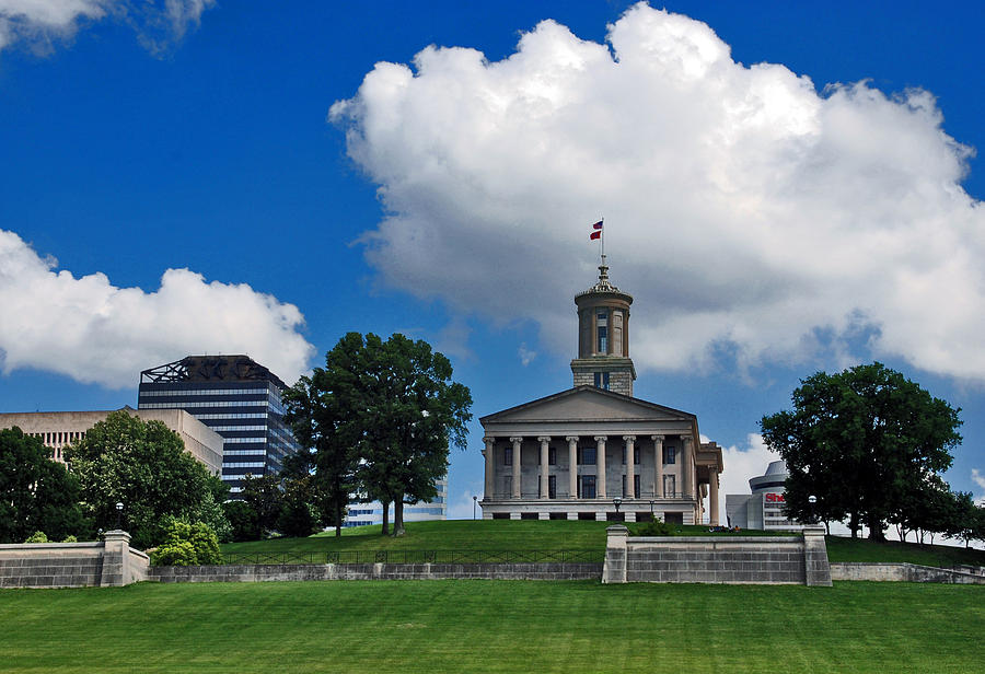 Tennessee State Capitol Photograph - Tennessee State Capitol Nashville by Susanne Van Hulst