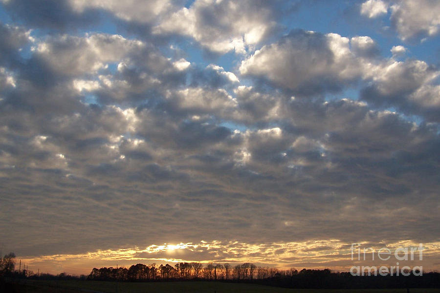 Landscape Photograph - Tennessee Sunset by Nancy Aldrich