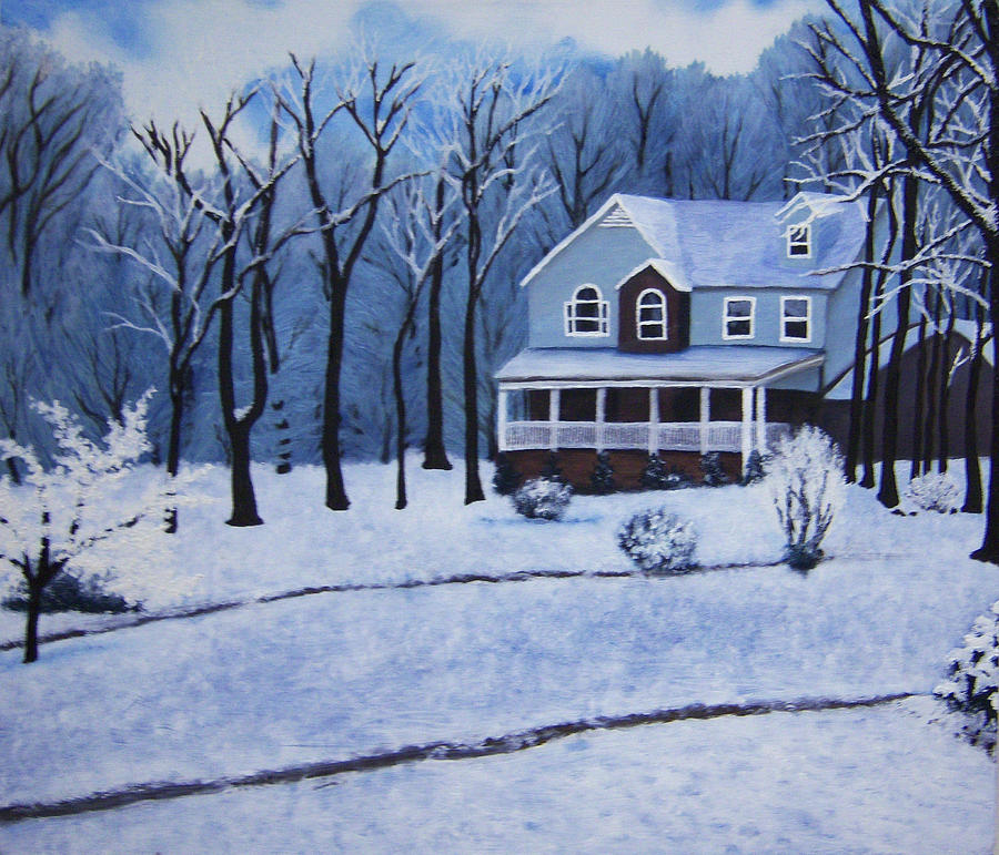 Landscape Painting - Tennessee Winter In The Smokies by Beth Parrish