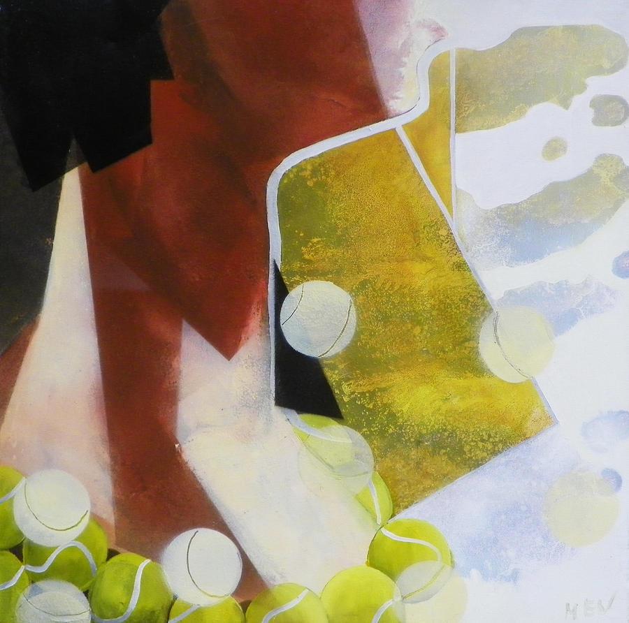 Girl Painting - Tennis Fan by Evguenia Men