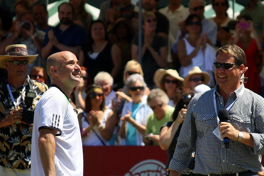 Andre Photograph - Tennis Legend by Anne Babineau