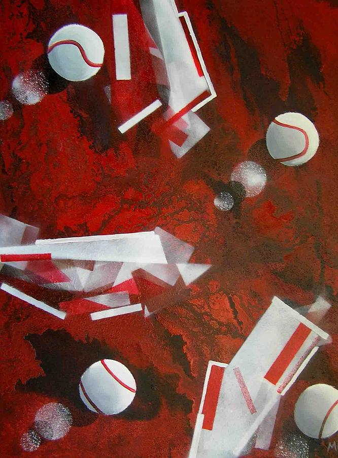 Tennis Balls Painting - tennis on Mars by Evguenia Men
