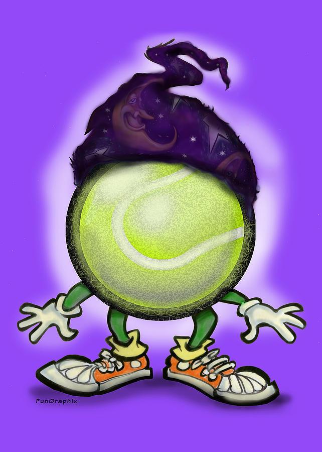 Tennis Digital Art - Tennis Wiz by Kevin Middleton