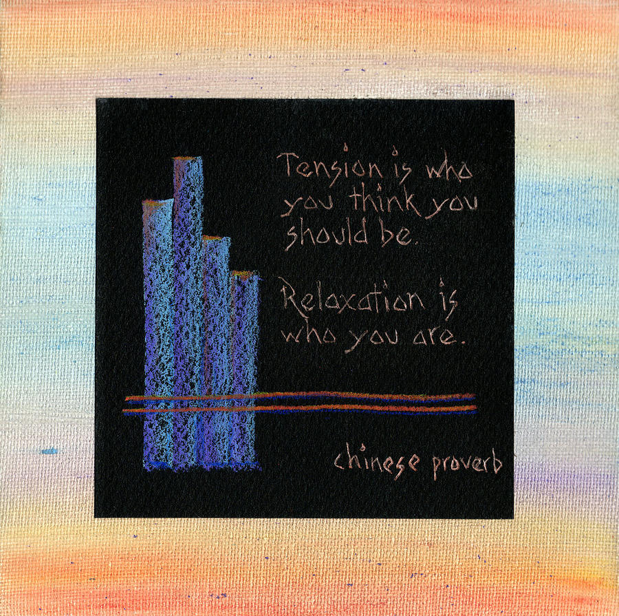 Relaxation Painting - Tension Is...in Orange And Blue by Andrea Swope