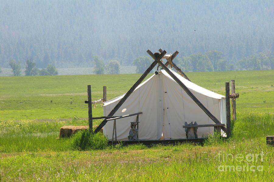 Montana Photograph - Tent Living Montana 2010 by Diane Greco-Lesser & Tent Living Montana 2010 Photograph by Diane Greco-Lesser