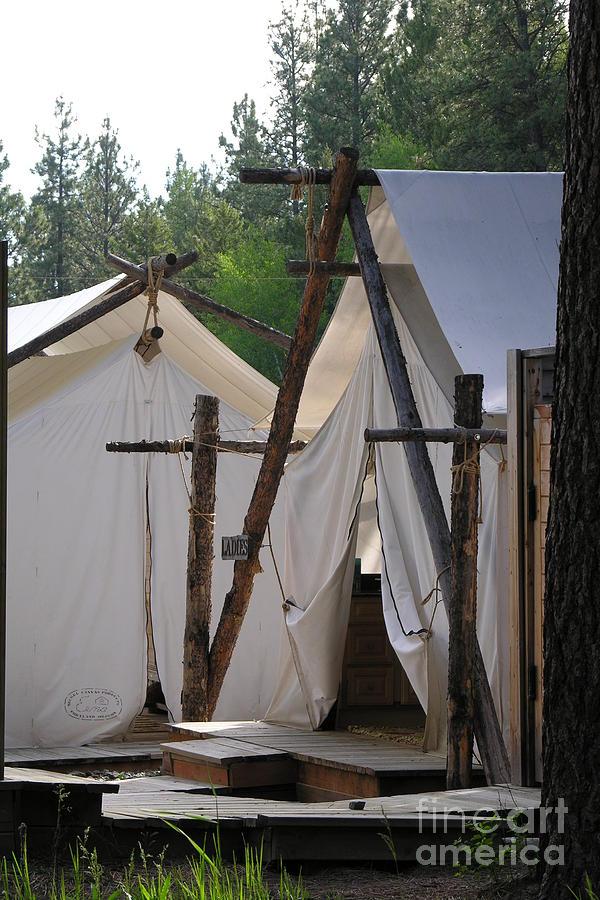 Montana Photograph - Tent Living Montana by Diane Greco-Lesser