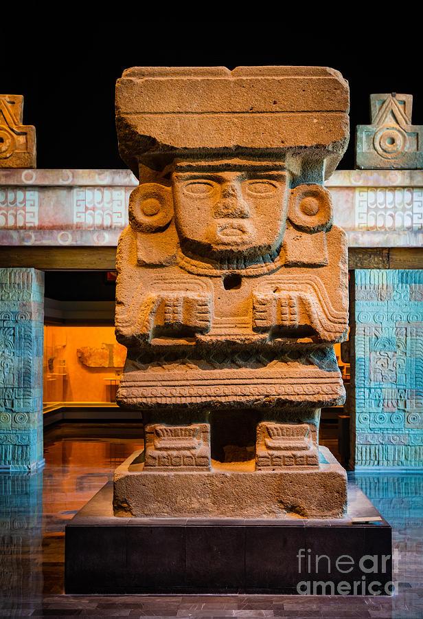 Teotihuacan Sculpture Photograph