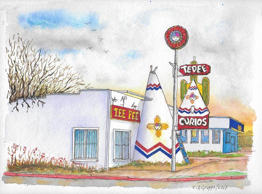 Tepee Curios in Tucumcari, New Mexico by Carlos G Groppa