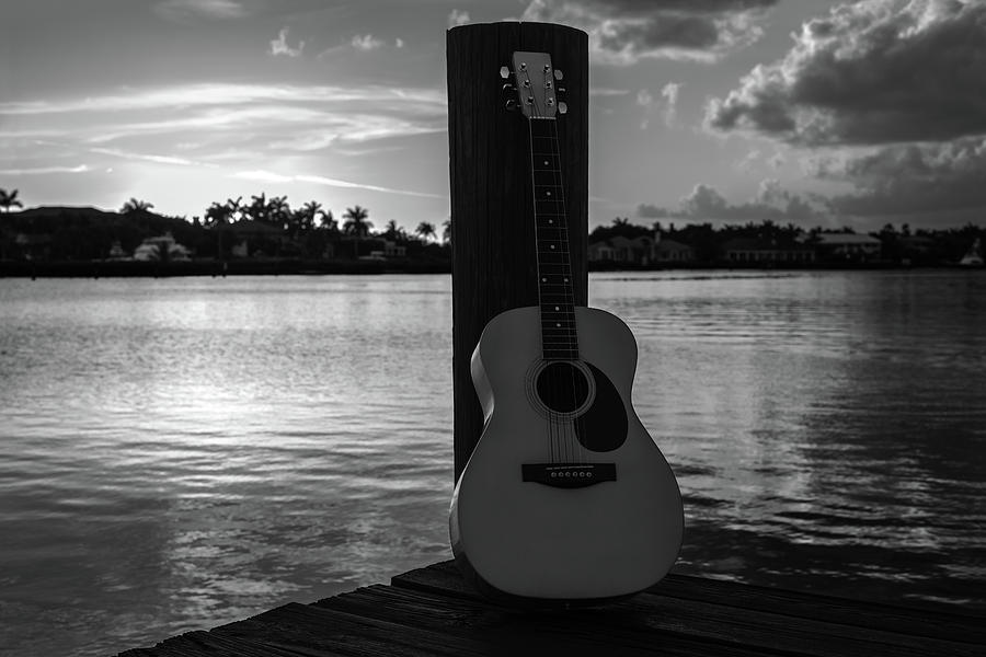 Tequila Sunrise black and white by Laura Fasulo