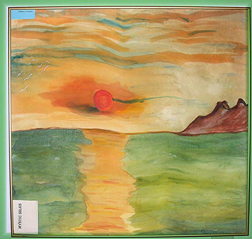 Ocean Painting - Tequila Sunset---sold by Klaire Mar