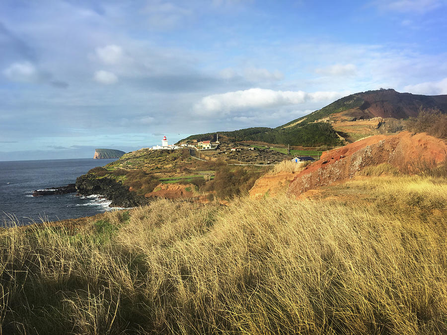 Terceira Island, Ilheus de Cabras and Lighthouse of Ponta das Contendas by Kelly Hazel