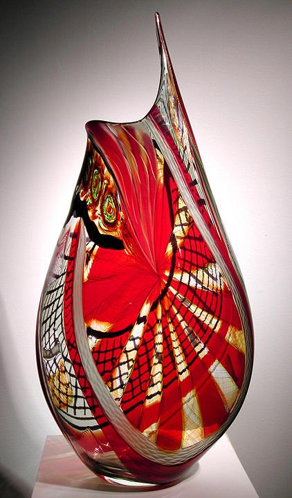 Contemporary Glass Sculpture - Terempio by Afro Celotto