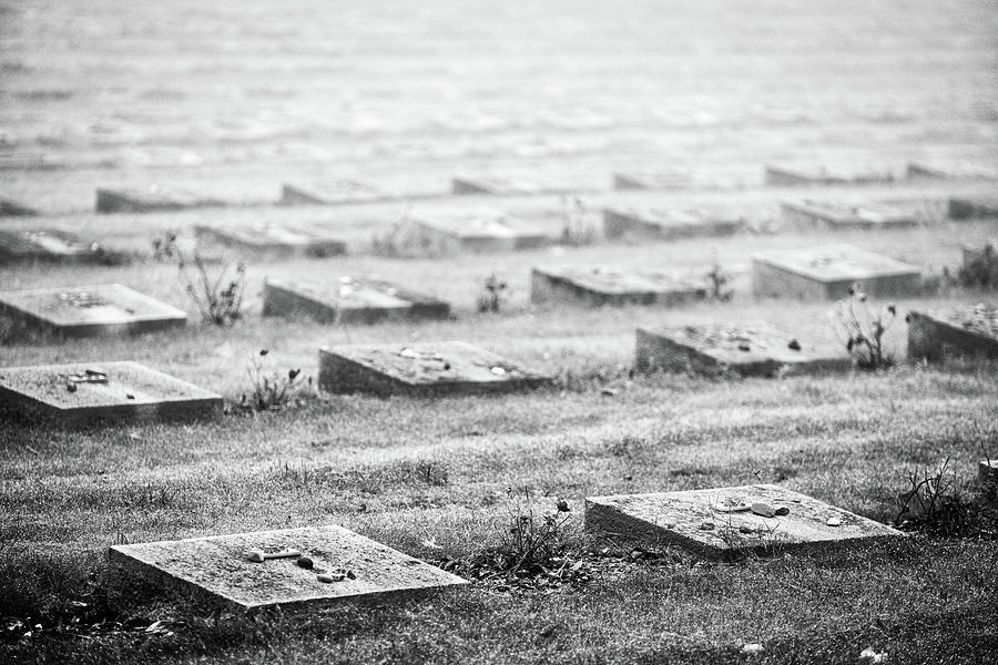 Czech Photograph - Terezin Cemetery Graves - Czechia by Stuart Litoff