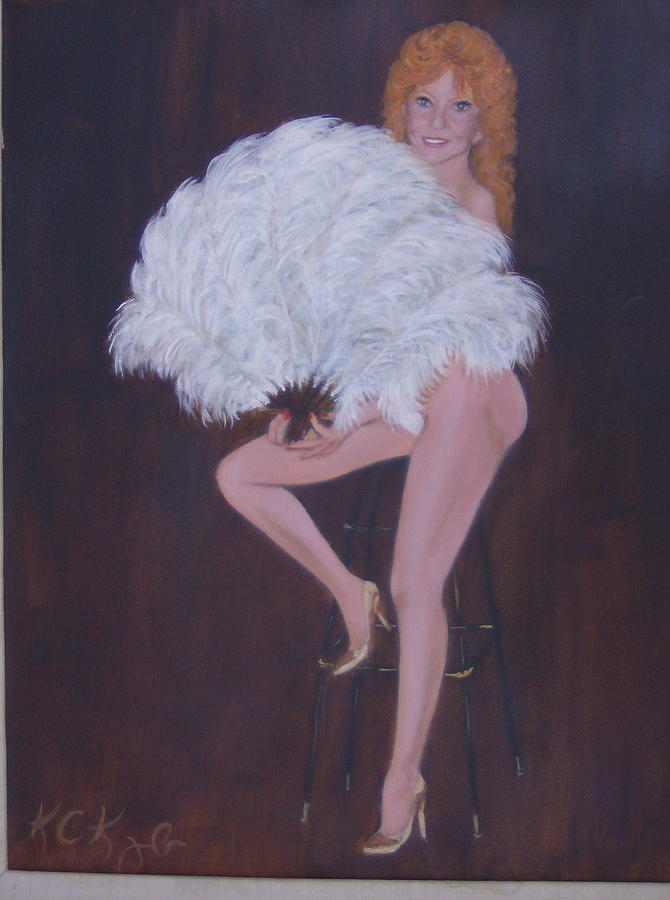 Showgirl Painting - Teri Starr by KC Knight
