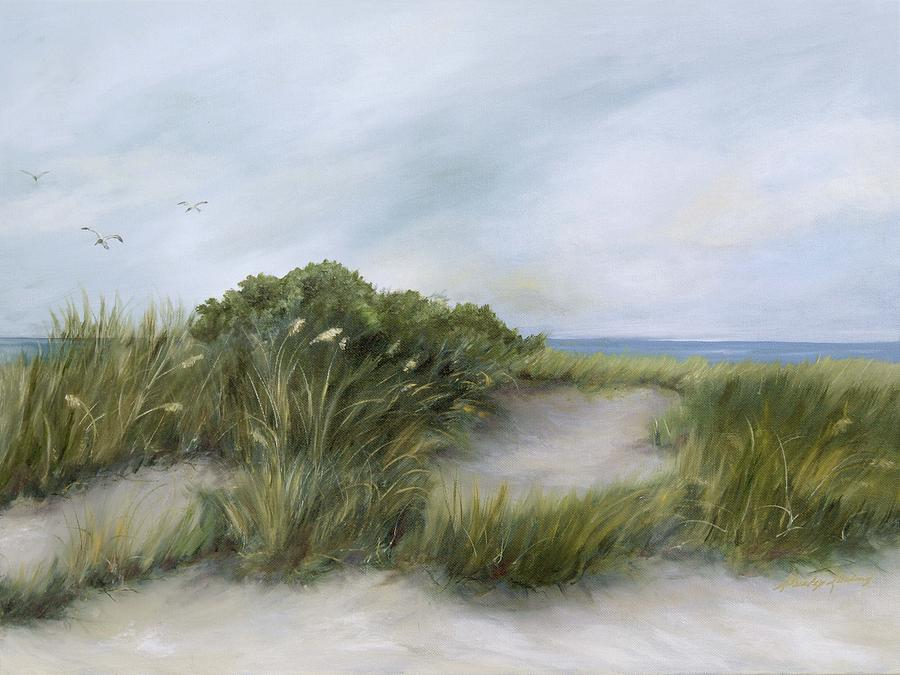 Coastal Landscape Painting - Terns by Shirley Lawing