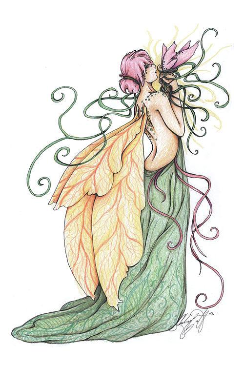 Fairie Drawing - Terra by Chelsey Scott