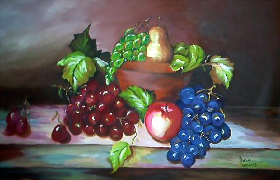 Still Life Painting - Terra Cotta Bowl by Julie Lamons