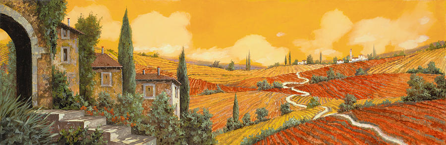 Tuscany Painting - terra di Siena by Guido Borelli