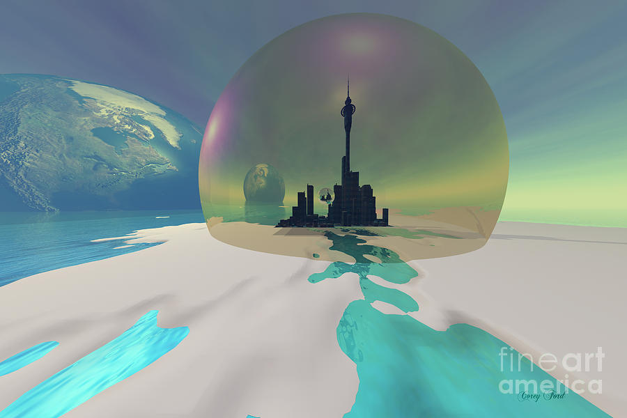 Architecture Painting - Terra-moon by Corey Ford