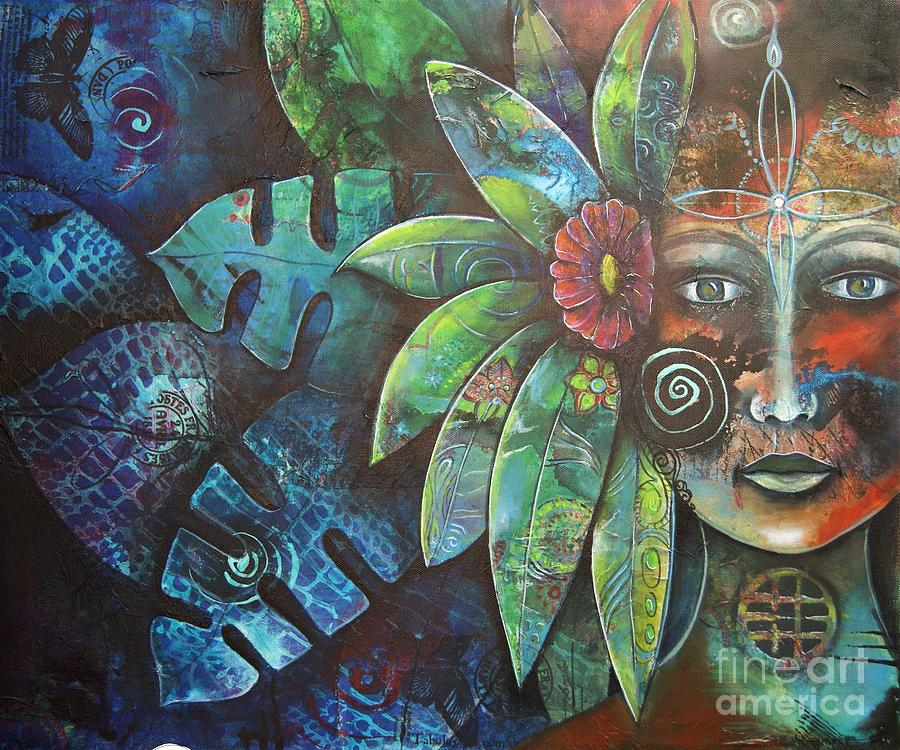 Nature Painting - Terra Pacifica By Reina Cottier Nz Artist by Reina Cottier