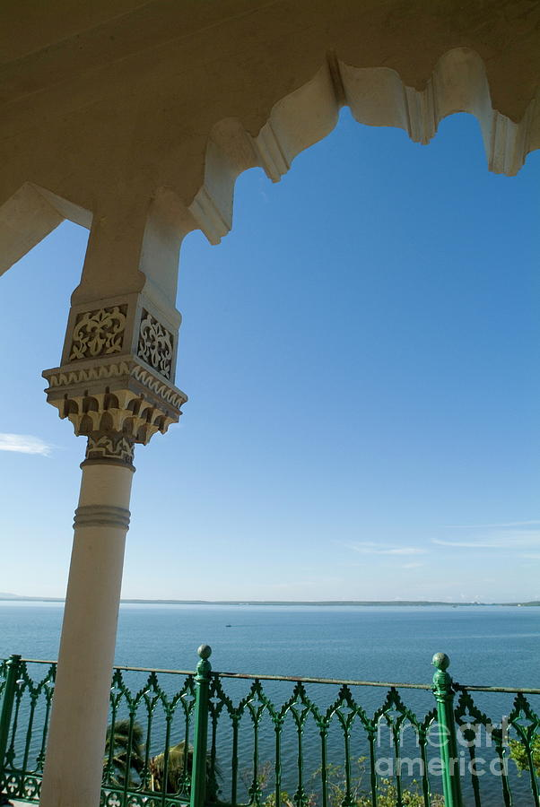 Absence Photograph - Terrace With A View Of The Sea On Top Of The Palacio De Valle by Sami Sarkis