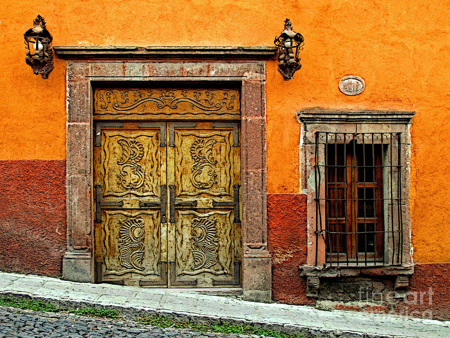 Darian Day Photograph - Terracotta Wall 1 by Mexicolors Art Photography