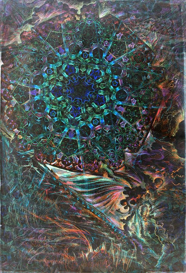 Penrose Tile Drawing - Terrakroma by Jeremy Robinson