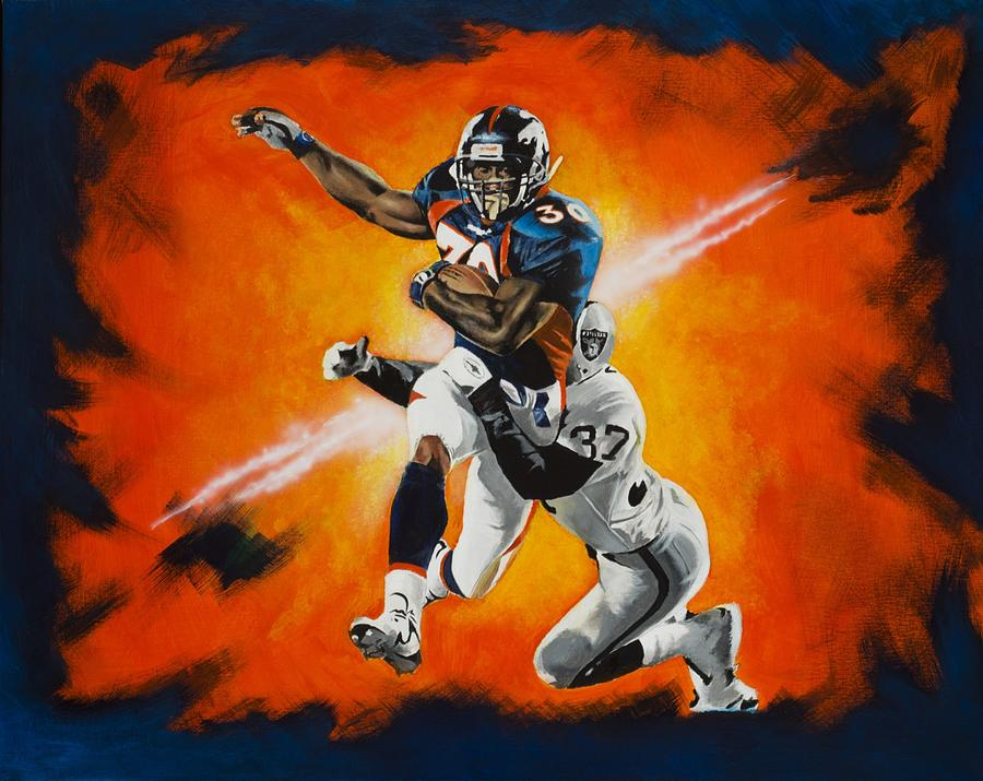 Terrell Davis Drawing - Terrell Davis II by Don Medina