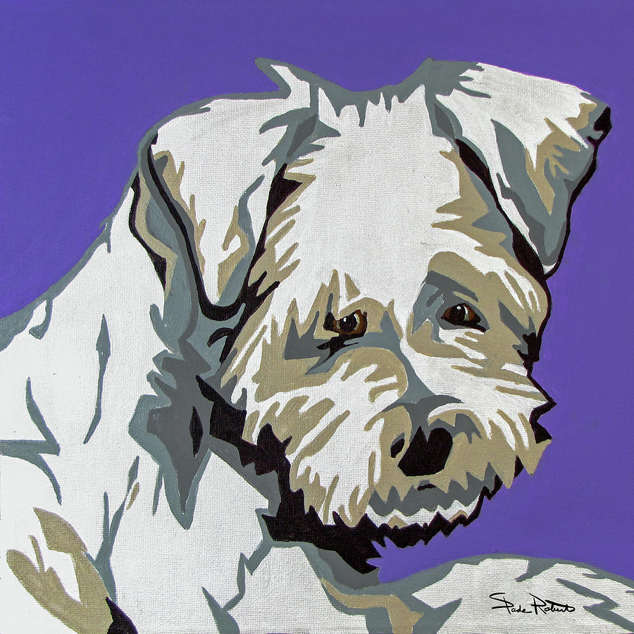 Terrier Painting - Terrier Mix by Slade Roberts