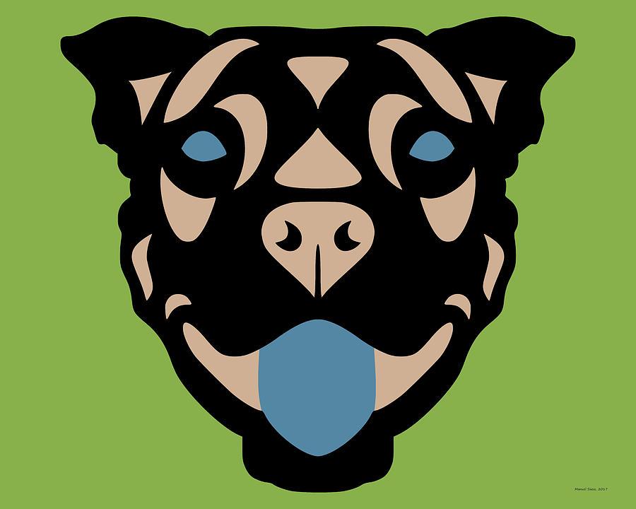 Terrier Terry - Dog Design - Greenery, Hazelnut, Niagara Blue by Manuel Sueess